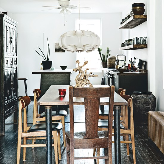 Dining Area In Kitchen: Automatism: A Rustic Mid-Century Cottage