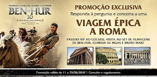 Promoção Ben-Hur - Concorra uma viagem para Roma!