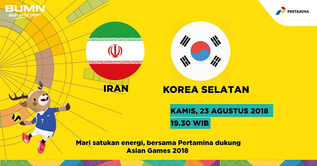 Live Streaming Iran vs South Korea Asian Games 23.8.2018