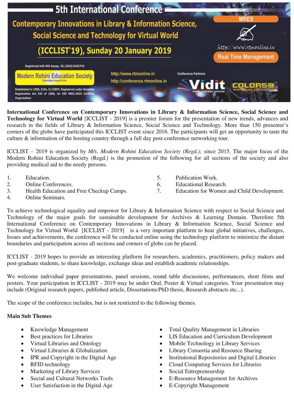 Library Science Professionals Portal: 5th International Conference