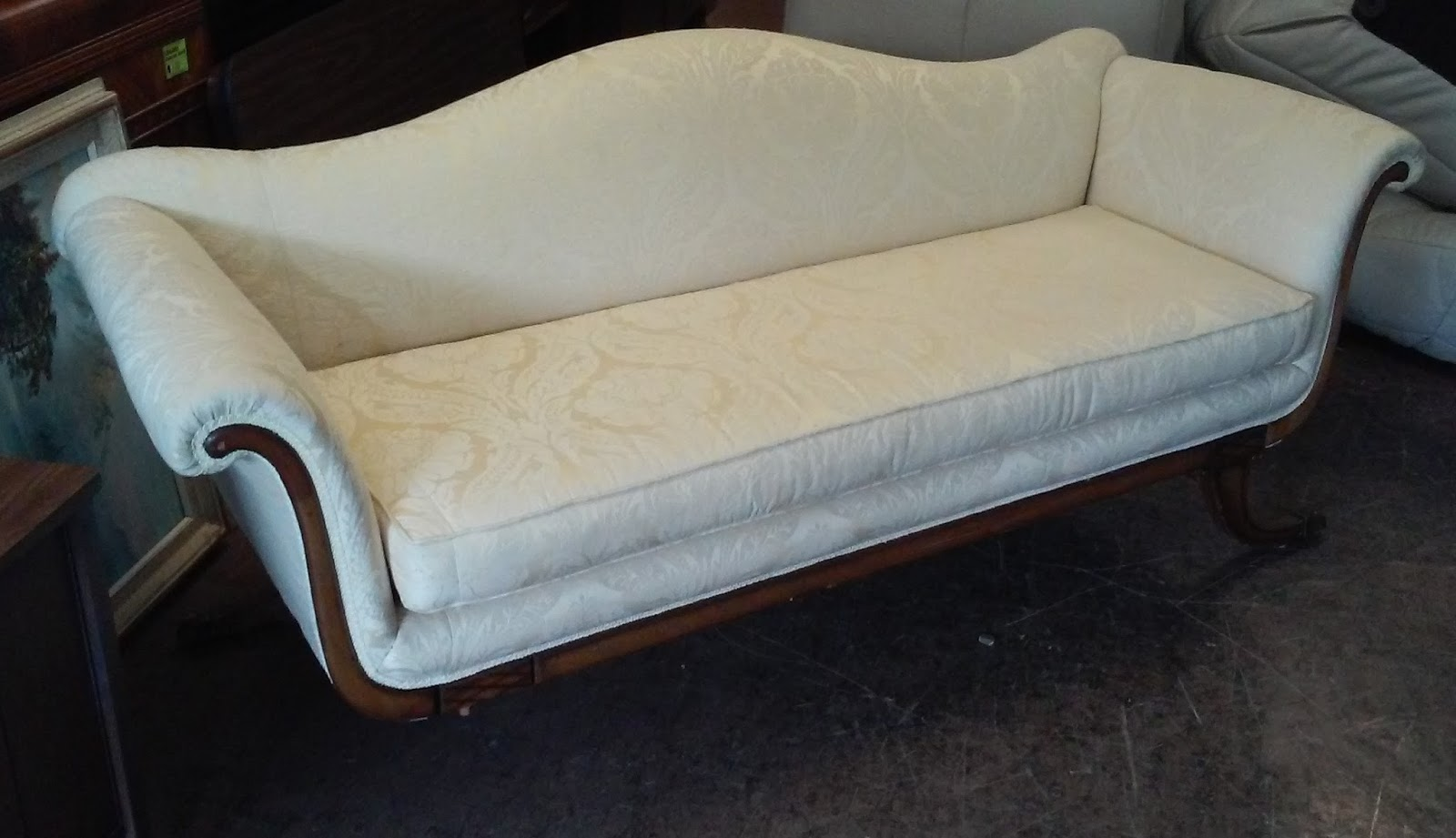 Uhuru furniture collectibles sold vintage reupholstered for Reupholstered chairs for sale