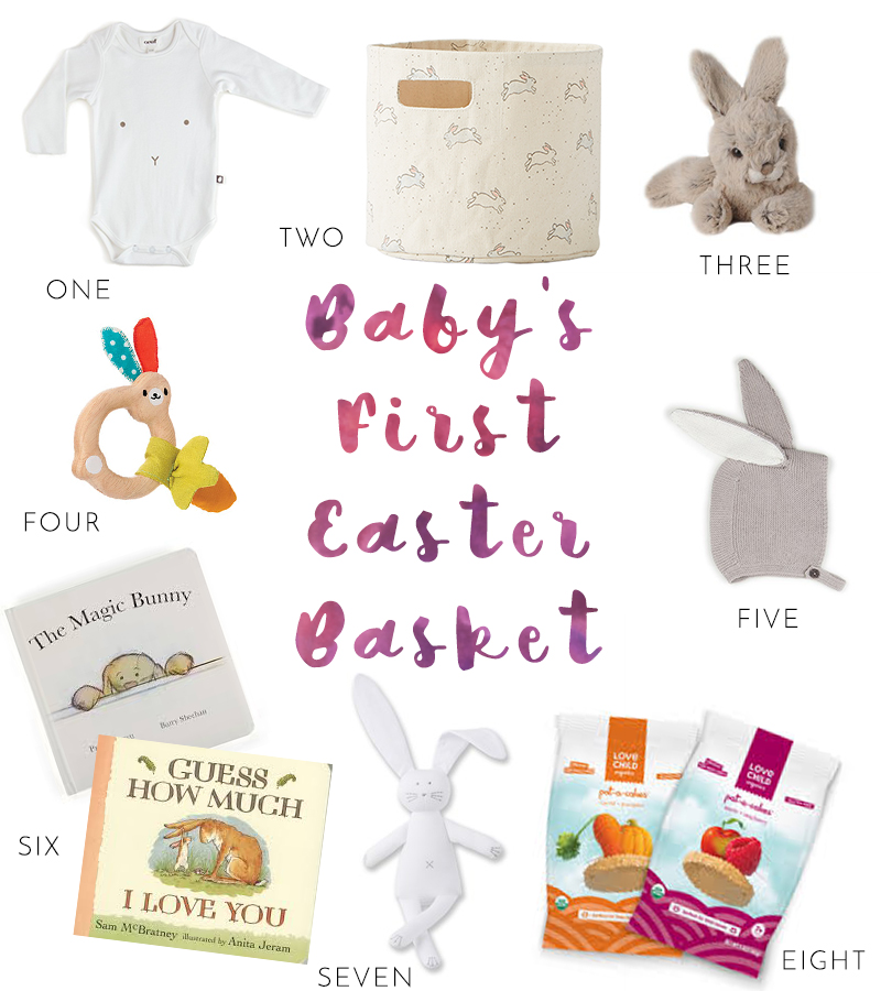 Mamahood babys first easter basket orane boucher that a few cute presents for easter are just as sweet as chocolate here are some of the adorable items that would make for a great first easter basket negle Gallery