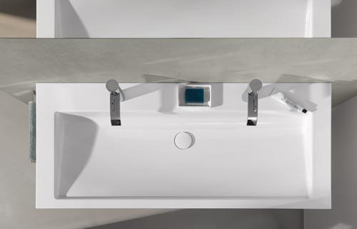 Wonenonline twice een dubbele wastafel met functioneel design - Wastafel rechthoekig badkamer ...