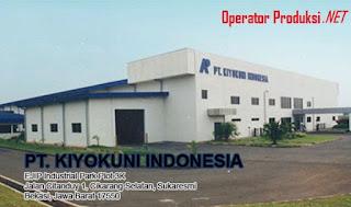 Paling Terbaru Loker Operator Produksi PT Kiyokuni Indonesia 2019
