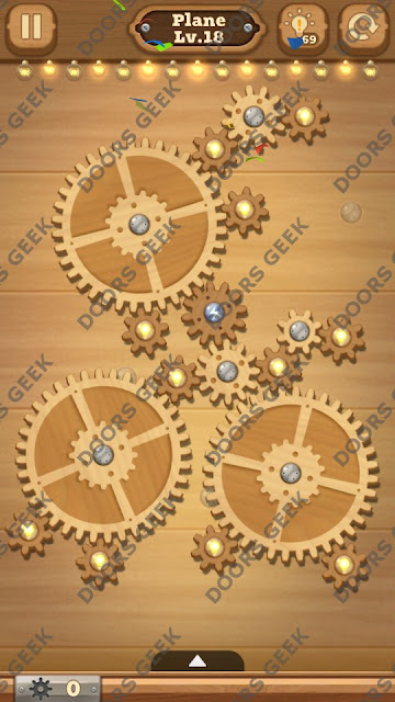 Fix it: Gear Puzzle [Plane] Level 18 Solution, Cheats, Walkthrough for Android, iPhone, iPad and iPod