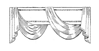 digital curtain illustration window treatment image