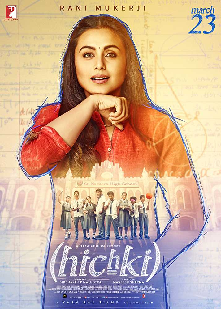Poster Hichki 2018 Full Movie Free Download Hindi 300Mb
