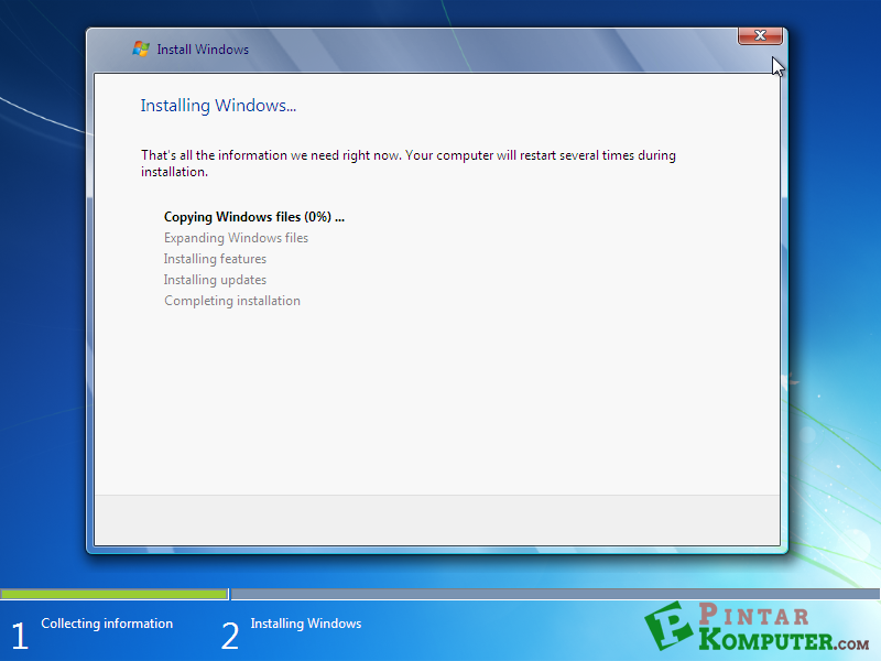 proses copying windows files