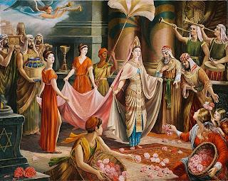 Обворожительная женщина, да еще и царица! Я-б не устоял! Как Соломон!