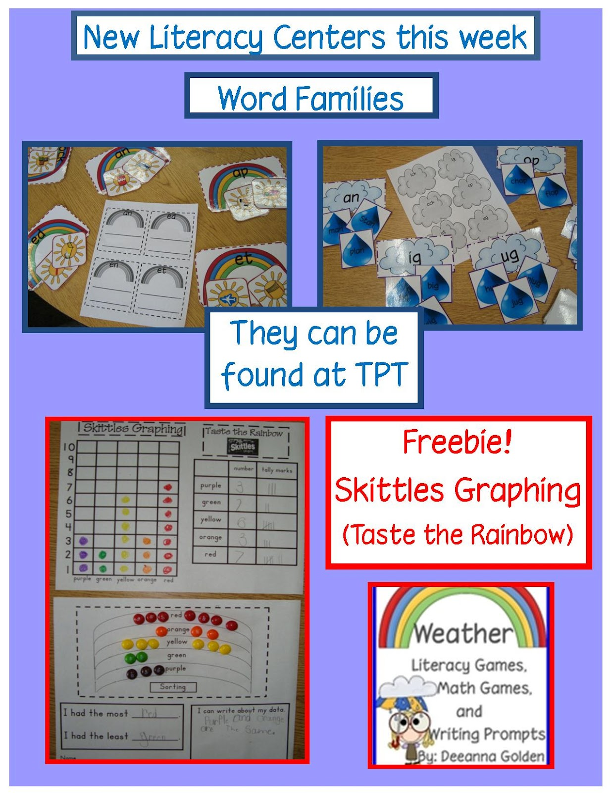 Golden Gang Kindergarten Skittles Graph Freebie