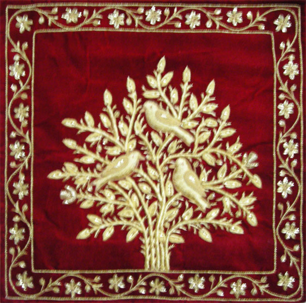 Embroidery Zari Art And Jewels Carpets For Wall