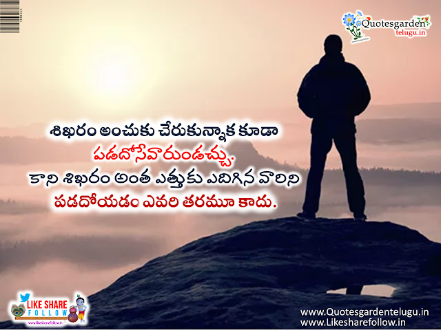 Telugu inspirational Quotes with images