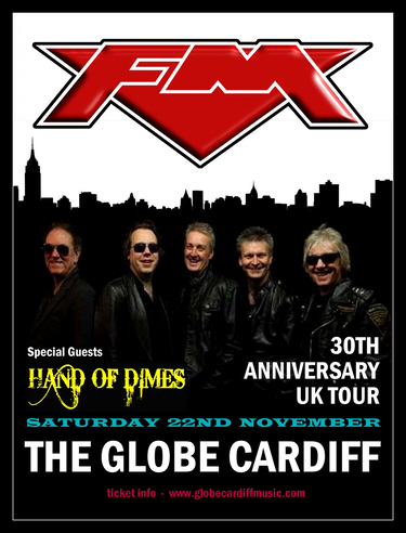 FM at Cardiff The Globe 22 Nov 2014 poster