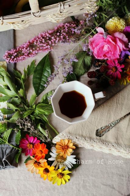 July Visual Tea/Garden Journal