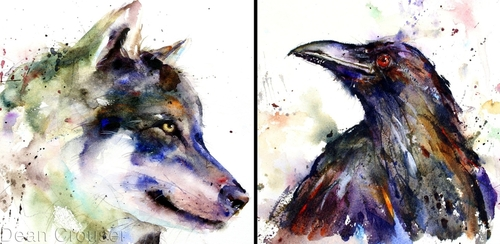00-Dean-Crouser-A-Love-of-the-Outdoors-Spawns-Animal-Watercolor-Paintings-www-designstack-co