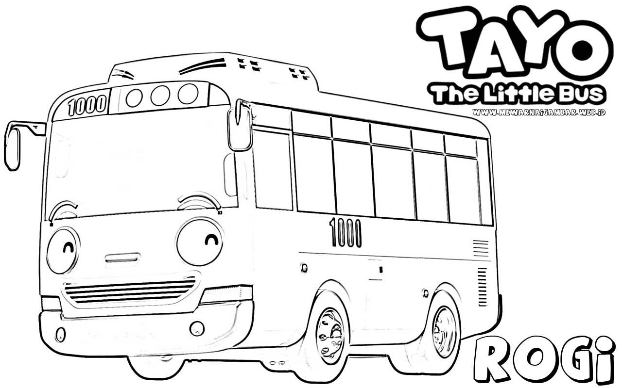 tayo the bus coloring pages - photo#7