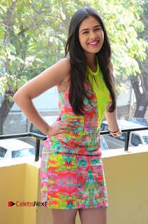 Telugu Actress Prasanna Stills in Short Dress at Inkenti Nuvve Cheppu Press Meet Stills  0050.JPG