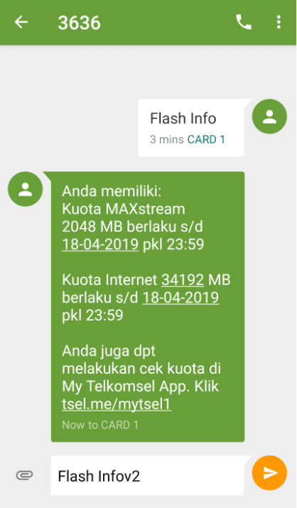 SMS Flash InfoV2