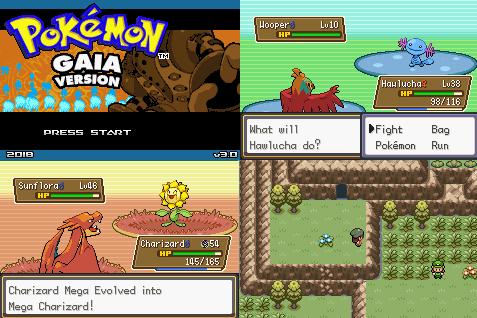 Pokemon Gaia gba complete