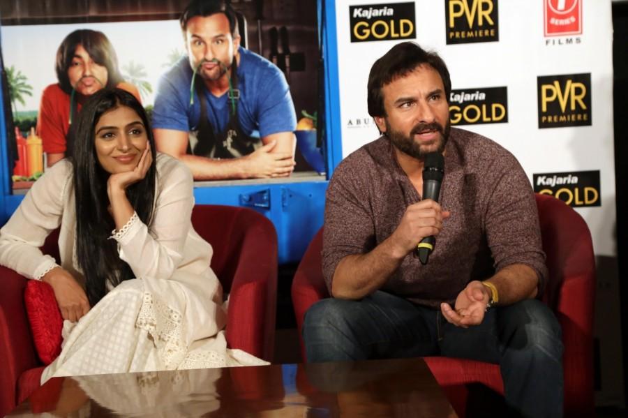 Saif Ali Khan and Padmapriya Janakiraman Promote Chef Movie