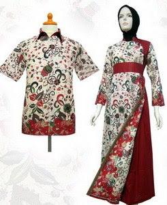 Model Baju Batik Pesta muslim