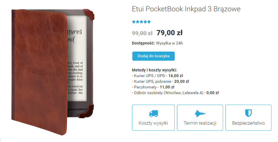 Etui do czytnika PocketBook InkPad 3 w sklepie czytio.pl