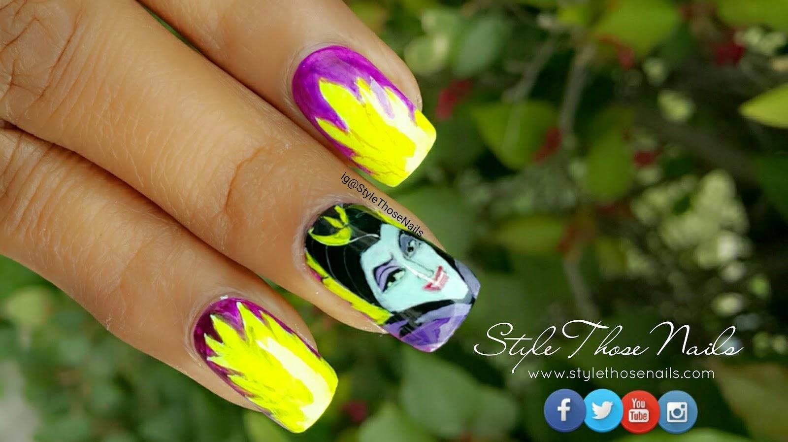 Style Those Nails Maleficent Nail Art Teamnailvillain