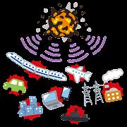 電磁パルス攻撃のイラスト