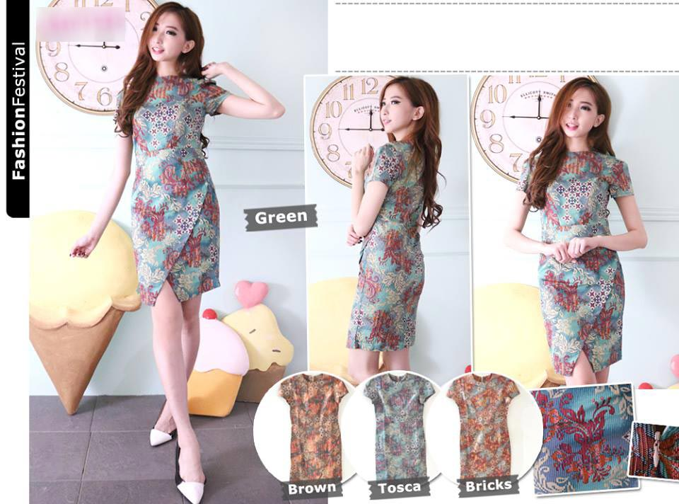 Jual Baju Batik Nicole Batik Dress - 13140