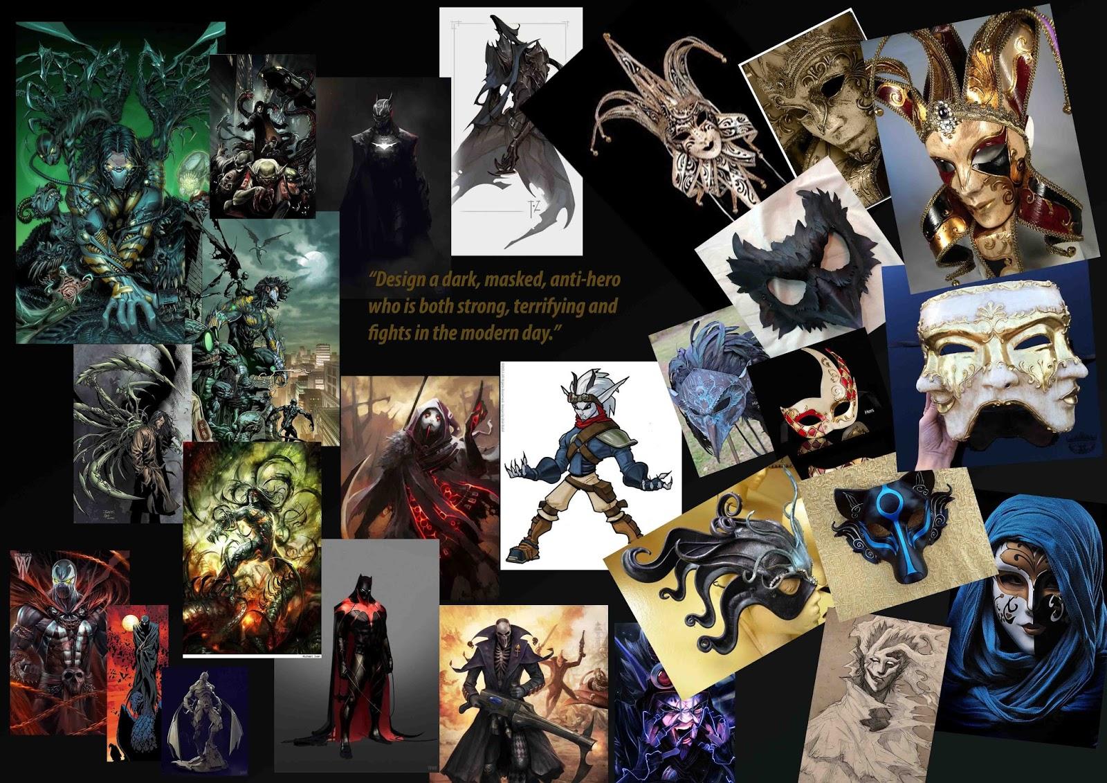 Character Design Mood Board : Adengeorge onceuponananimaton viscom character design