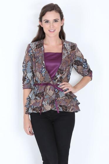 Model Baju Batik Kerja Kantoran Terbaru