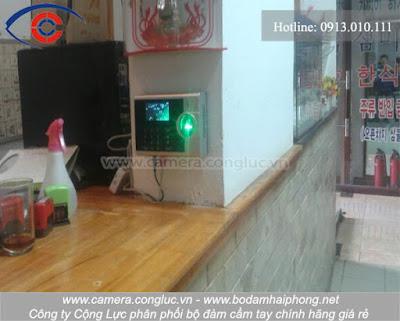Hoàn thành lắp đặt máy chấm công tại nhà hàng Hàn Quốc, Cái Dăm, Quảng Ninh.