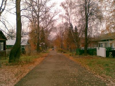 Бродит осень по улочкам тесным. Лукоянов, улица Горького