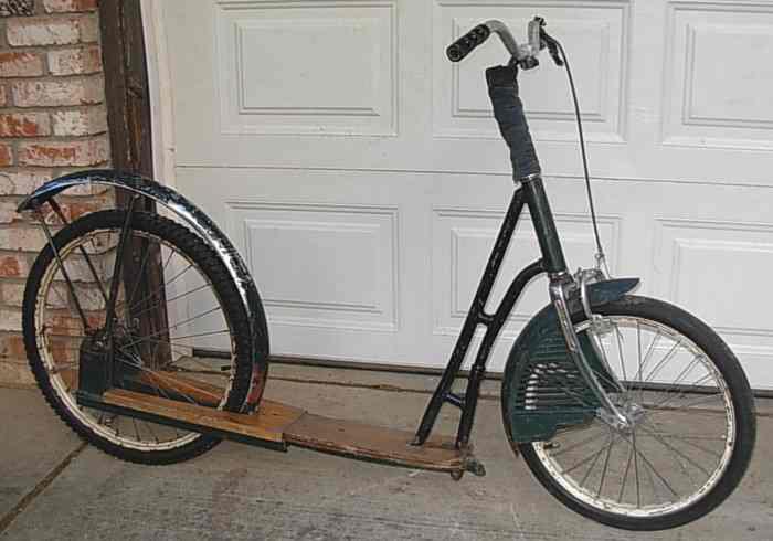 Whymcycle # 1... built 1988, une trottinette de Whymcycle