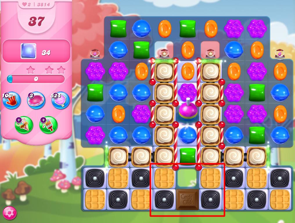 Candy Crush Saga level 3814