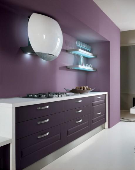 Cocinas color violeta colores en casa - Cucina color melanzana ...