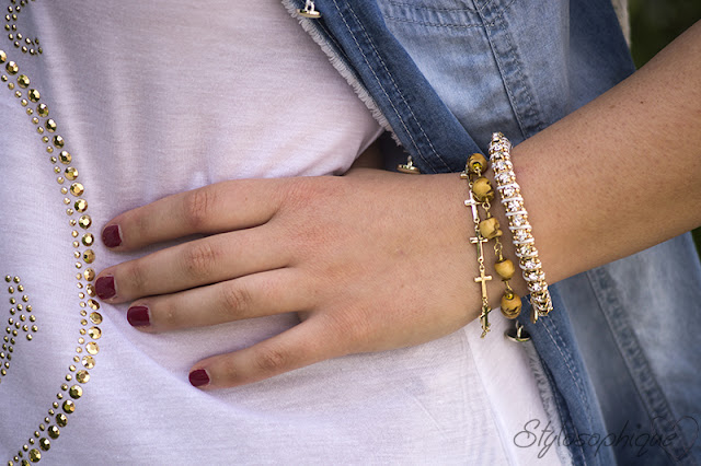 Iris Tinunin, Arm Party, Wrist Party, Glamour in Rose, River Island, Tally Weijl, Fashion Blogger