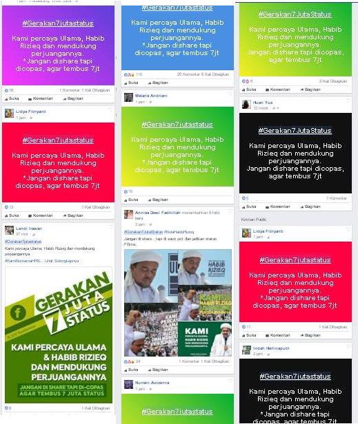 (Hashtag) #Gerakan7JutaStatus Mendukung Habib Rizieq Terus Menjadi Viral