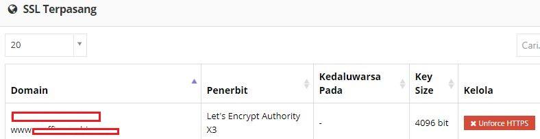 SSL terpasang
