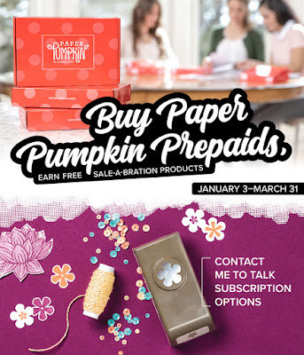 Paper Pumpkin Prepaid Suscriptions earn you Free Sale-A-Bration items | Subscribe with Nicole Steele The Joyful Stamper