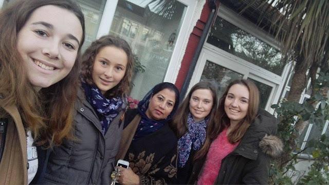 Selfie s hostitelskou rodinou v Londýně