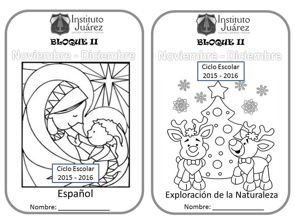 Dibujos En Libretas Ii: Instituto Juárez 2° Primaria: Portadas De Español