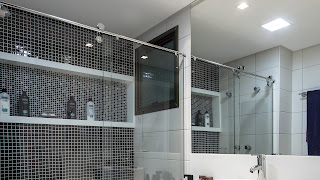 foto de box para banheiro elegance kit cromado