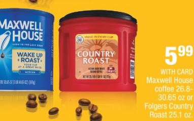 Maxwell House coffee cvs deal