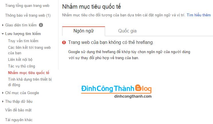 Thẻ Hreflang và cách chèn vào blogger