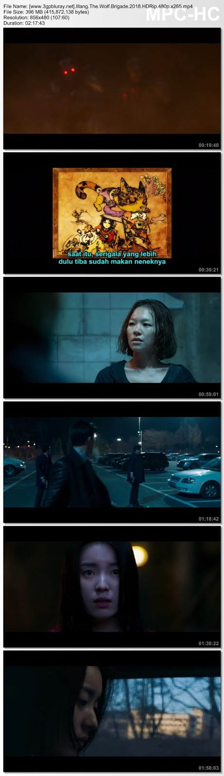Screenshots Download Illang: The Wolf Brigade (2018) HDRip 480p & 3GP Subtitle Indonesia