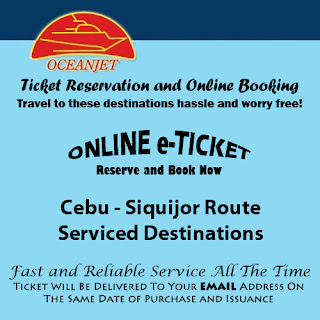 OceanJet Cebu-Siquijor Route Ticket Reservation and Online Booking