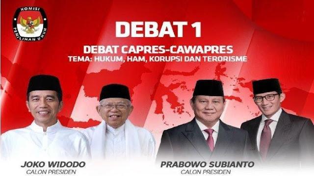 Saksikan Live Streaming Debat Capres Perdana di Pilpres 2019 Disini