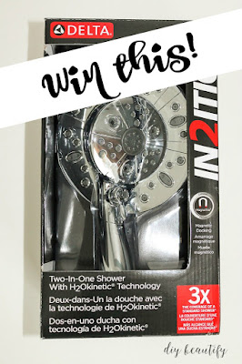 Win a Delta In2ition Showerhead with H2OKinetic Technology at diy beautify!