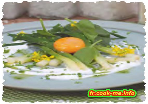 Jaune d'ceuf mariné au vinaigre de cidre et à la fleur de sel de Camargue